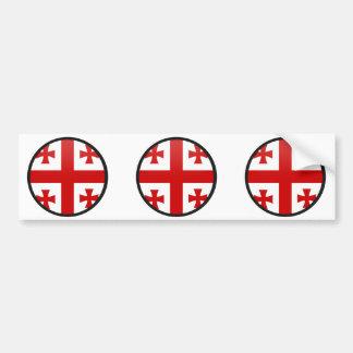 Georgia quality Flag Circle Bumper Stickers