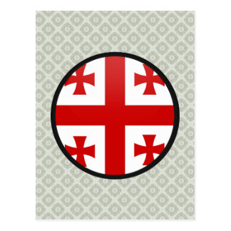 Georgia quality Flag Circle Postcard