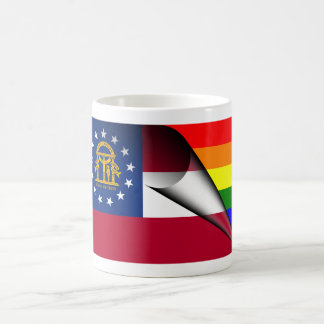 Georgia Rainbow Flag Magic Mug