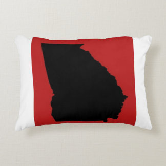 GEORGIA RED AND BLACK DECORATIVE PILLOW