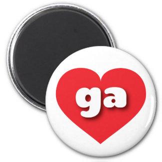 georgia red heart - mini love magnet