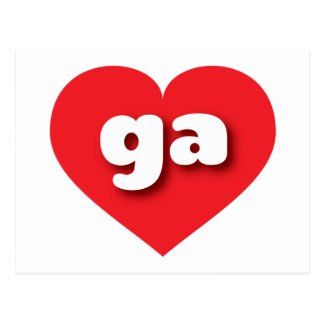 georgia red heart - mini love postcard