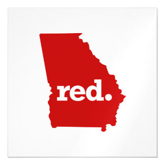 GEORGIA RED STATE MAGNETIC CARD