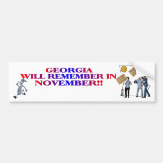 Georgia - Return Congress To The People!! Bumper Sticker