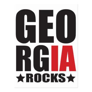 Georgia Rocks! State Spirit Apparel Postcard
