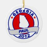 Georgia Ron Paul Christmas Tree Ornaments