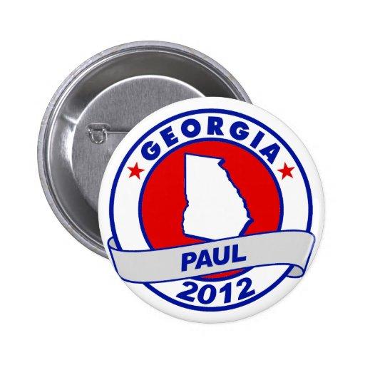 Georgia Ron Paul Pinback Buttons