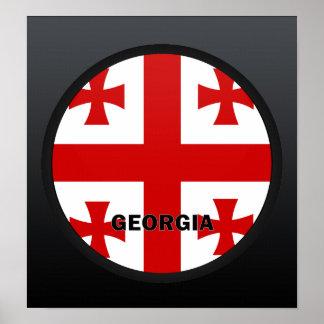 Georgia Roundel quality Flag Posters