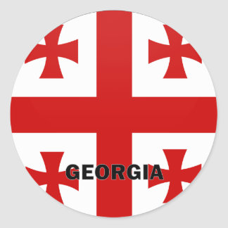 Georgia Roundel quality Flag Classic Round Sticker