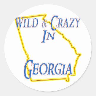 Georgia - salvaje y loca etiquetas redondas
