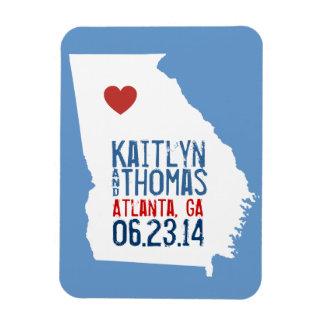 Georgia Save the Date - Customizable City Rectangular Photo Magnet