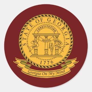Georgia Seal Classic Round Sticker