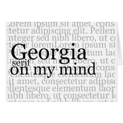 Georgia Serif On My Mind Card