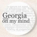 Georgia Serif On My Mind Drink Coasters