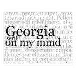 Georgia Serif On My Mind Post Card