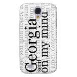 Georgia Serif On My Mind Samsung Galaxy S4 Cover