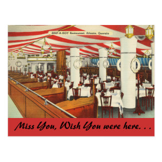 Georgia, Ship-A-Hoy, Atlanta Postcard
