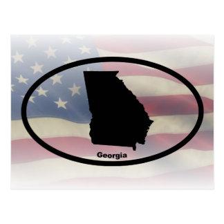 Georgia Silhouette Oval Design Postcard