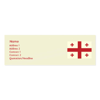 Georgia - Skinny Double-Sided Mini Business Cards (Pack Of 20)