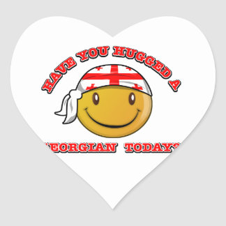Georgia smiley flag designs heart sticker