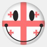 Georgia Smiley Round Stickers