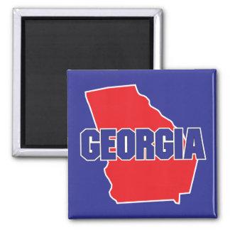 Georgia State 2 Inch Square Magnet