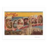 Georgia (State Capital) - Large Letter Scenes Post Card