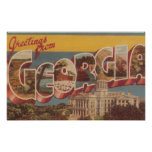 Georgia (State Capital) - Large Letter Scenes Poster