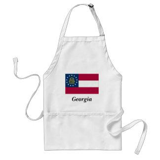 Georgia State Flag Adult Apron