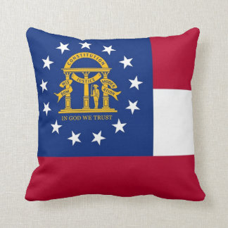 Georgia State Flag American MoJo Pillow