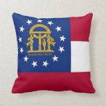 Georgia State Flag American MoJo Pillow