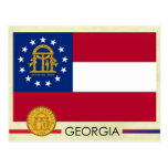 Georgia State Flag and Seal Post Cards
