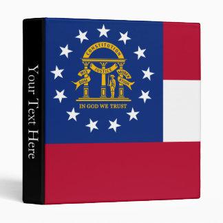 Georgia State Flag Vinyl Binders