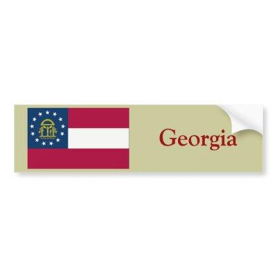 Georgia State Flag bumper sticker $ 4.45