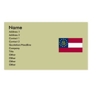 Georgia State Flag Double-Sided Standard Business Cards (Pack Of 100)