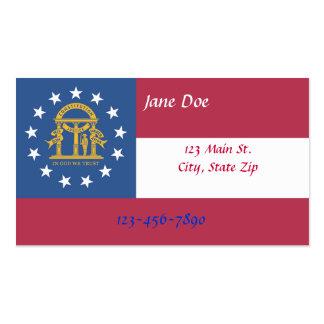 Georgia State Flag Business Cards
