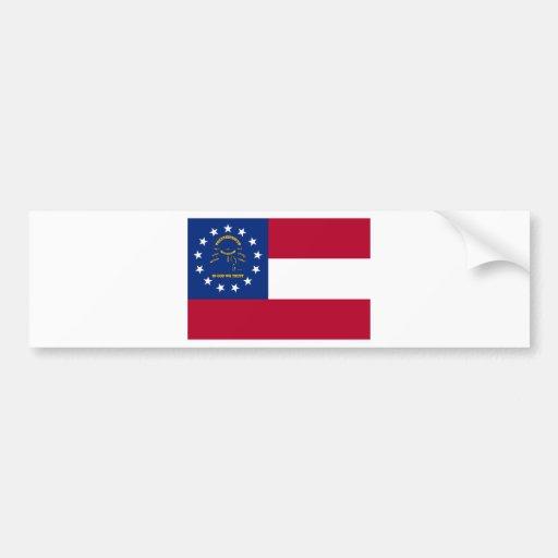 Georgia State Flag Car Bumper Sticker