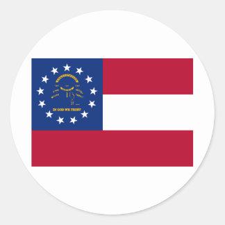 Georgia State Flag Classic Round Sticker