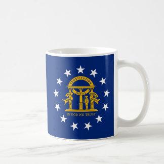 Georgia State Flag Classic White Coffee Mug