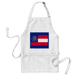 Georgia State Flag Design Adult Apron