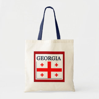 Georgia State Flag Design Budget Canvas Bag