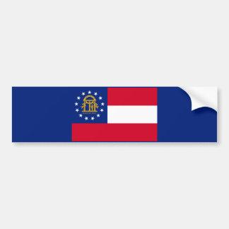 Georgia State Flag Design Car Bumper Sticker