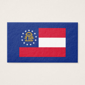 Georgia State Flag Design Business Card