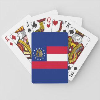 Georgia State Flag Design Card Decks
