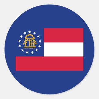 Georgia State Flag Design Classic Round Sticker