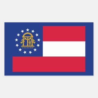 Georgia State Flag Design Rectangular Sticker