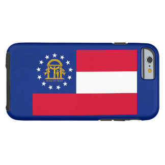 Georgia State Flag Design Tough iPhone 6 Case