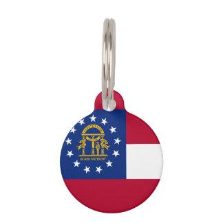 Georgia State Flag Pet Nametag
