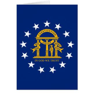 Georgia State Flag Greeting Card