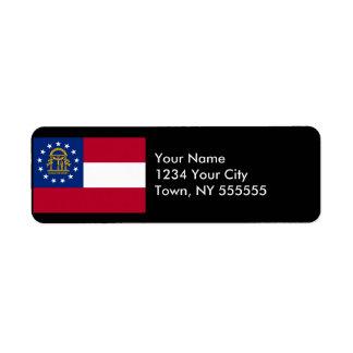 Georgia State Flag Return Address Label